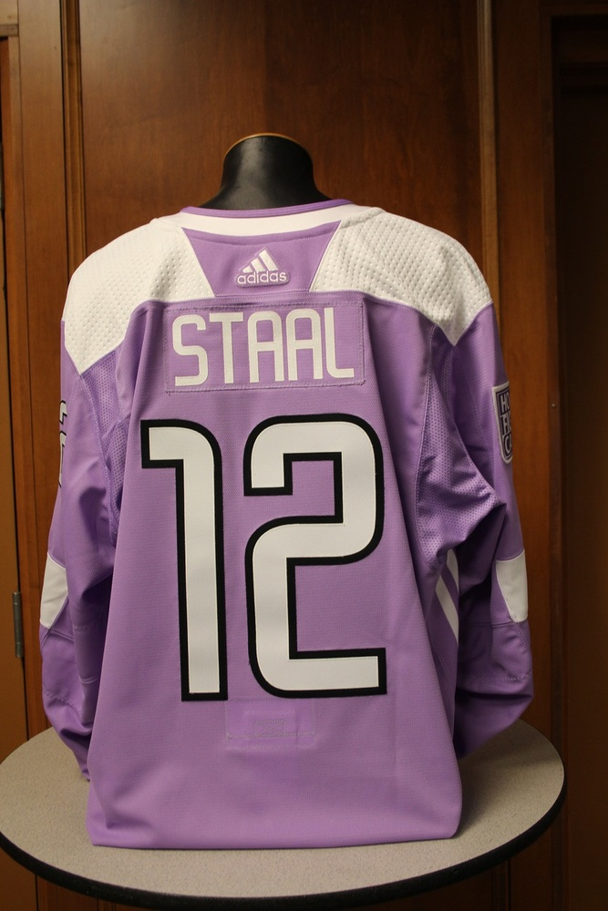 Eric Staal Minnesota Wild 2017 Hockey Fights Cancer Night Warm-Up Jersey (Size 58)