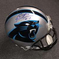 PANTHERS - CAM NEWTON SIGNED PANTHERS PROLINE HELMET