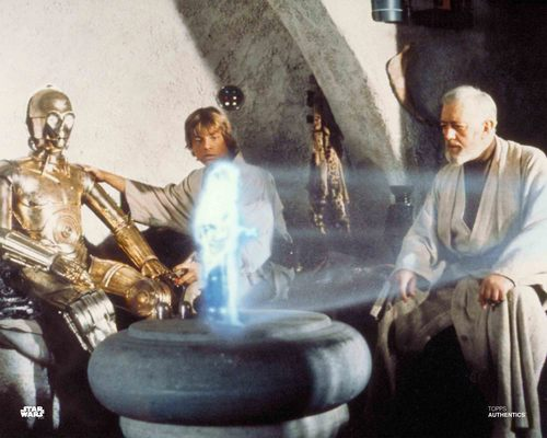 Obi-Wan Kenobi, Luke Skywalker and C-3PO
