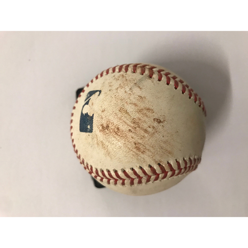 Photo of Ozzie Albies Game Used Hit Single Baseball - 6/23/2018