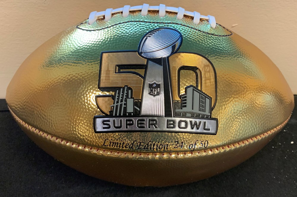 Broncos - DeMarcus Ware signed Super Bowl 50 Gold Football - Limited Edition