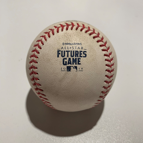 Photo of 2018 All-Star Futures Game - Game Used Baseball - Batter: Yordan Alvarez Pitcher: Hunter Greene - Walk