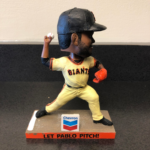 "Photo of Pablo Sandoval Foundation - Autographed ""Let Pablo Pitch"" Bobblehead"