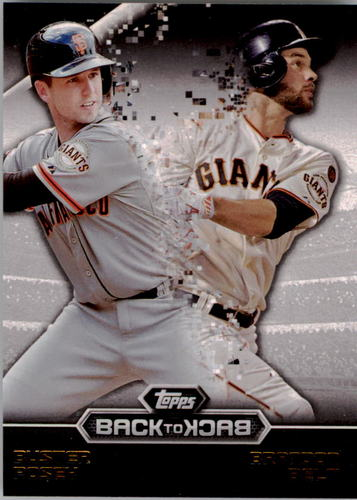 Photo of 2016 Topps Back to Back #B2B3 Buster Posey/Brandon Belt