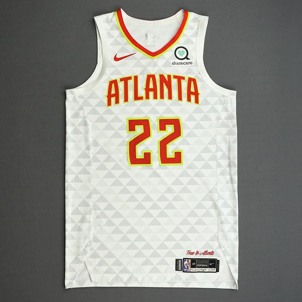 Cam Reddish - Atlanta Hawks - Kia NBA Tip-Off 2019 - Game-Worn Association Edition Jersey - NBA Debut (10th Overall Draft Pick)