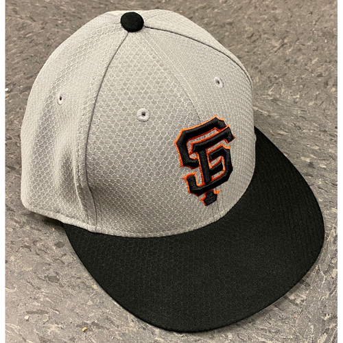 Photo of 2019 Team Issued Gray Batting Practice Cap - #28 Buster Posey - Size 7 1/4