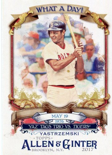 Photo of 2017 Topps Allen and Ginter What a Day #WAD24 Carl Yastrzemski