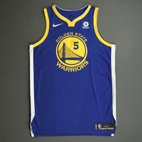 Kevon Looney - Golden State Warriors - NBA China Games - Game-Worn Icon Edition Jersey - 2017-18 NBA Season