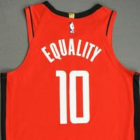 Eric Gordon - Houston Rockets - Game-Issued Icon Edition Jersey - 2019-20 NBA Season Restart with Social Justice Message