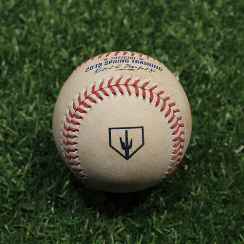 Photo of Game-Used Baseball: Lopez - Foul (KC @ OMA 3/25/19)