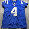 STS - Colts Adam Vinatieri Signed Game Issued Jersey (11/12/17) Size 44