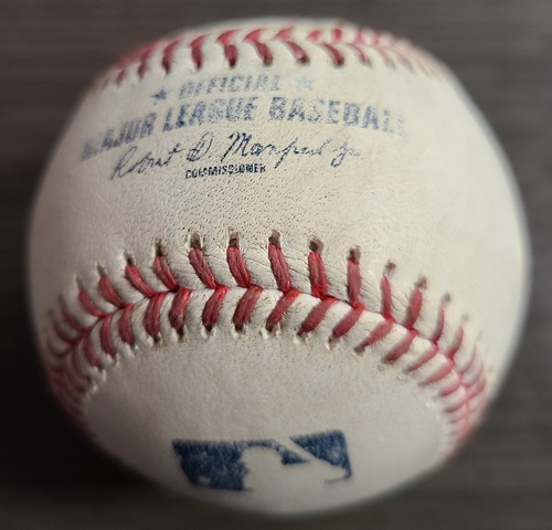 Photo of Authenticated Game Used Baseball: Single by Willi Castro against Robbie Ray (Aug 20, 2021 vs DET). Top 2.