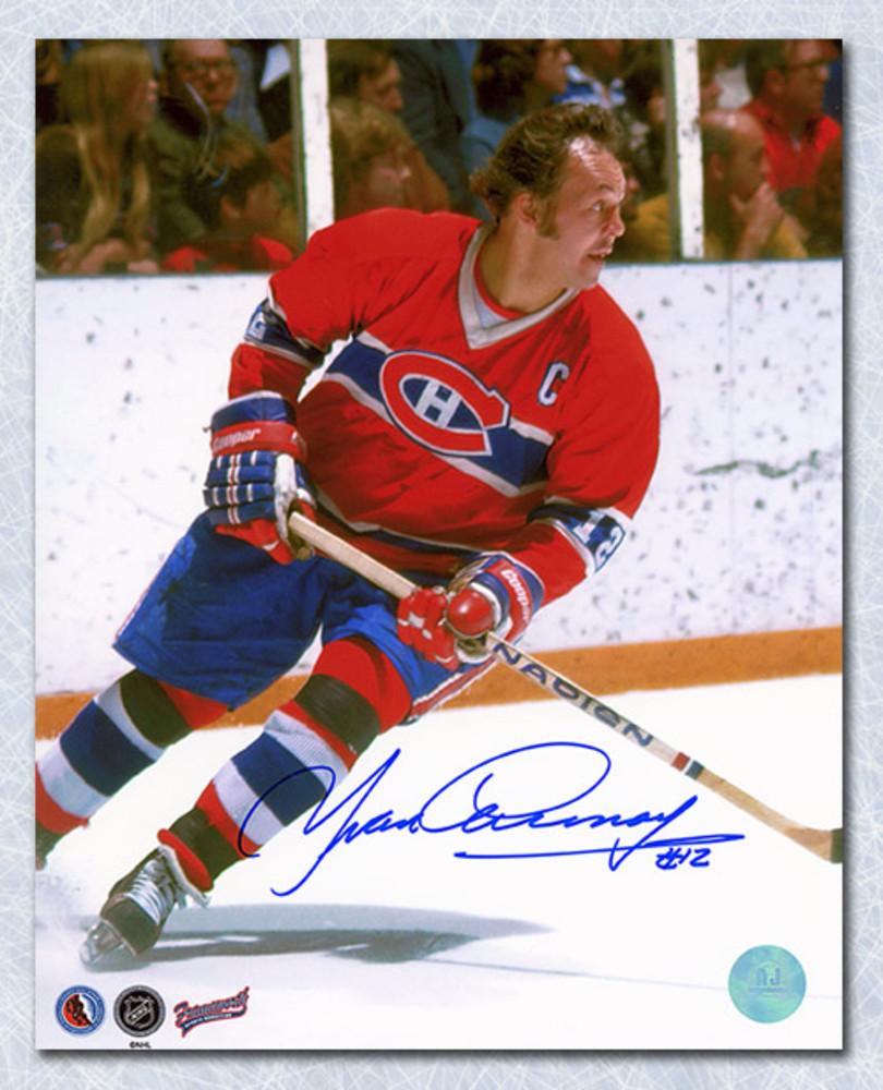 Yvan Cournoyer Montreal Canadiens Autographed Hockey 8x10 Photo