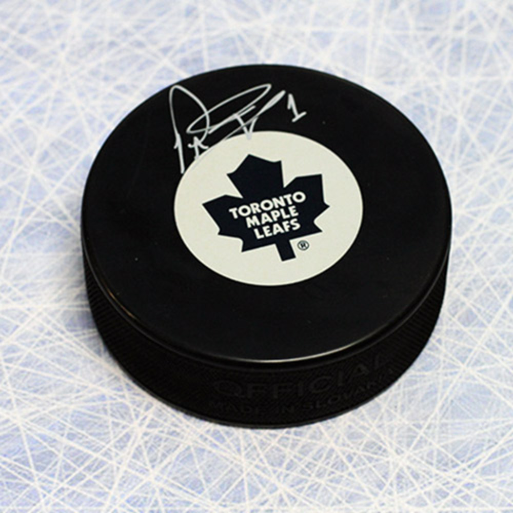 Peter Ing Toronto Maple Leafs Autographed Hockey Puck