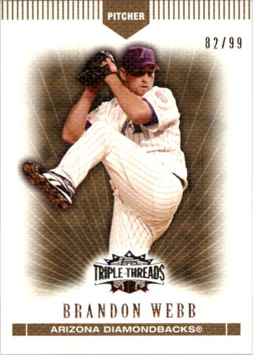 Photo of 2007 Topps Triple Threads Gold #51 Brandon Webb