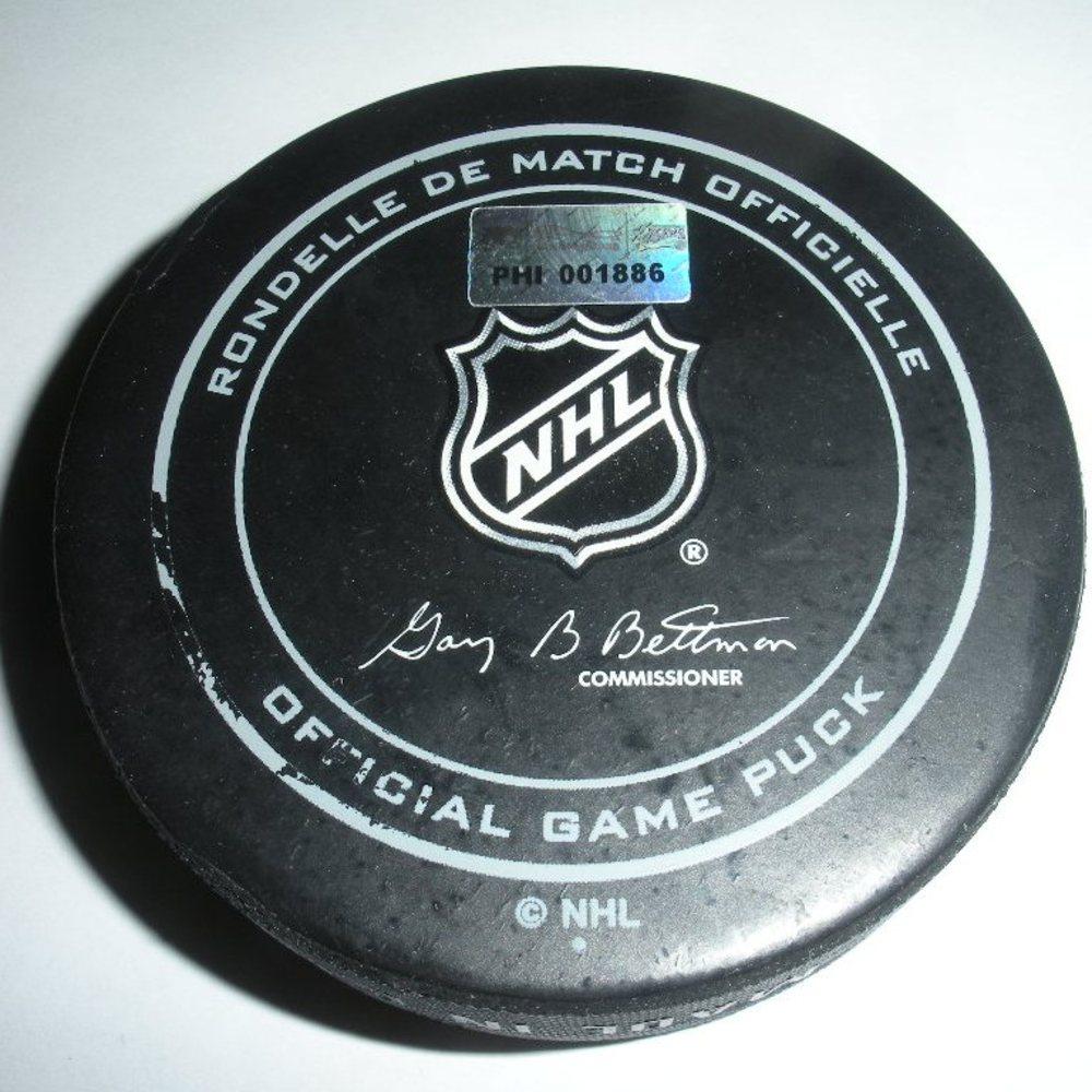 Jaromir Jagr - New Jersey Devils - Goal Puck - November 7, 2013 (Flyers Logo)