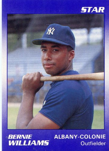 Photo of 1990 Albany Yankees Star #22 Bernie Williams