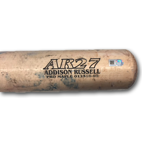 Photo of Addison Russell Team-Issued Bat -- 2017 Season