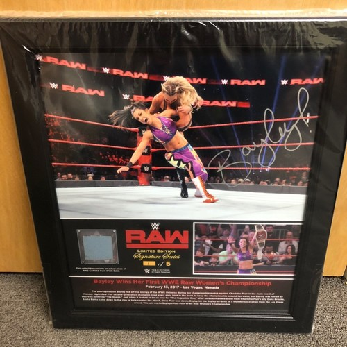 Photo of Bayley SIGNED RAW Signature Series Ring Canvas Plaque (#1 of 5)