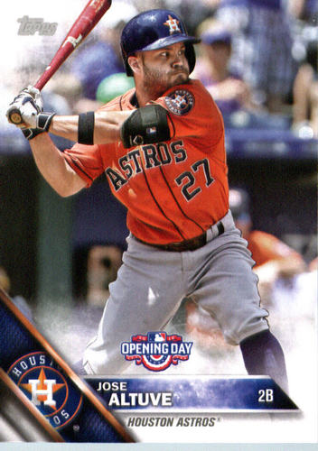 Photo of 2016 Topps Opening Day #OD147 Jose Altuve
