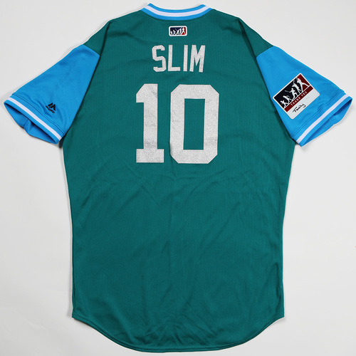 "Photo of Cameron ""Slim"" Maybin Seattle Mariners Game-Used Players' Weekend Jersey"