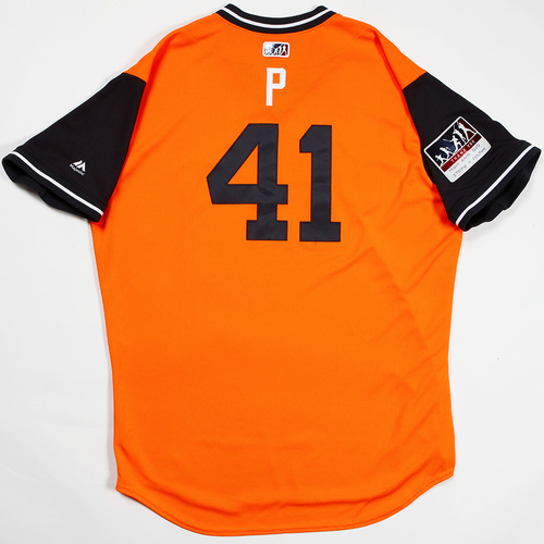 "Photo of Brad ""P"" Peacock Houston Astros Game-Used 2018 Players' Weekend Jersey"