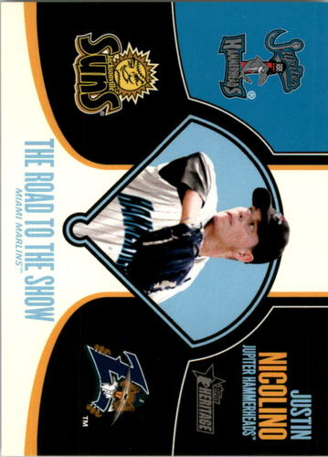 Photo of 2013 Topps Heritage Minors Road to the Show #JN Justin Nicolino