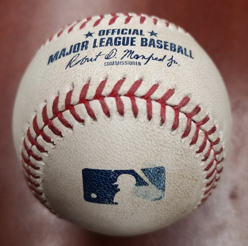 Photo of Authenticated Game Used Baseball - Sam Gaviglio strikes out Ryan Cordell (May 10, 2019 vs CWS). Top 5.