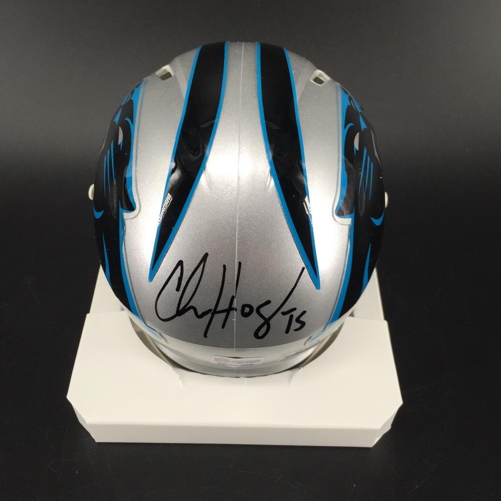 Panthers - Chris Hogan Signed Mini Helmet