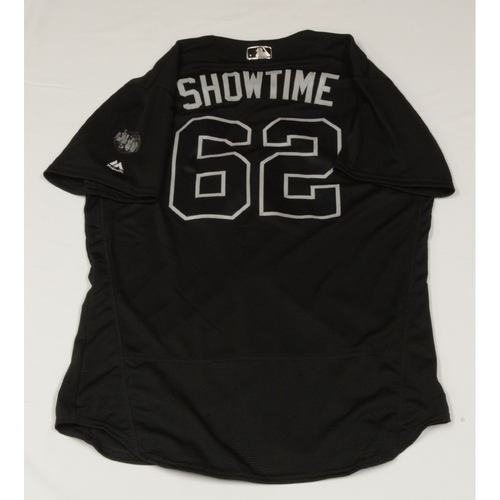 """Photo of Yency """"Showtime"""" Almonte Colorado Rockies Game-Used 2019 Players' Weekend Jersey"""