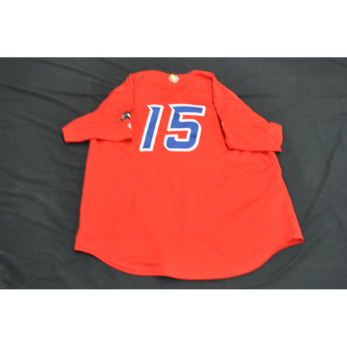 Photo of 2017 World Baseball Classic Batting Practice Jersey - Carlos Beltran - Puerto Rico (Size XL)