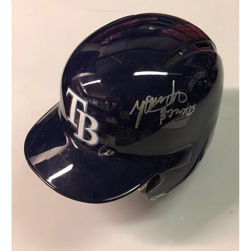 Photo of Team Issued Autographed Helmet: Yonny Chirinos