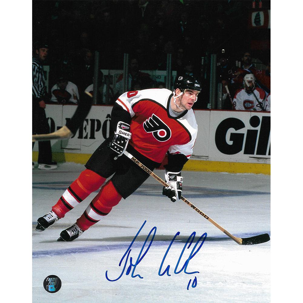 John LeClair Autographed Philadelphia Flyers 8X10 Photo