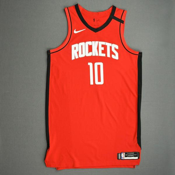Image of Eric Gordon - Houston Rockets - Game-Issued Icon Edition Jersey - 2019-20 NBA Season Restart with Social Justice Message