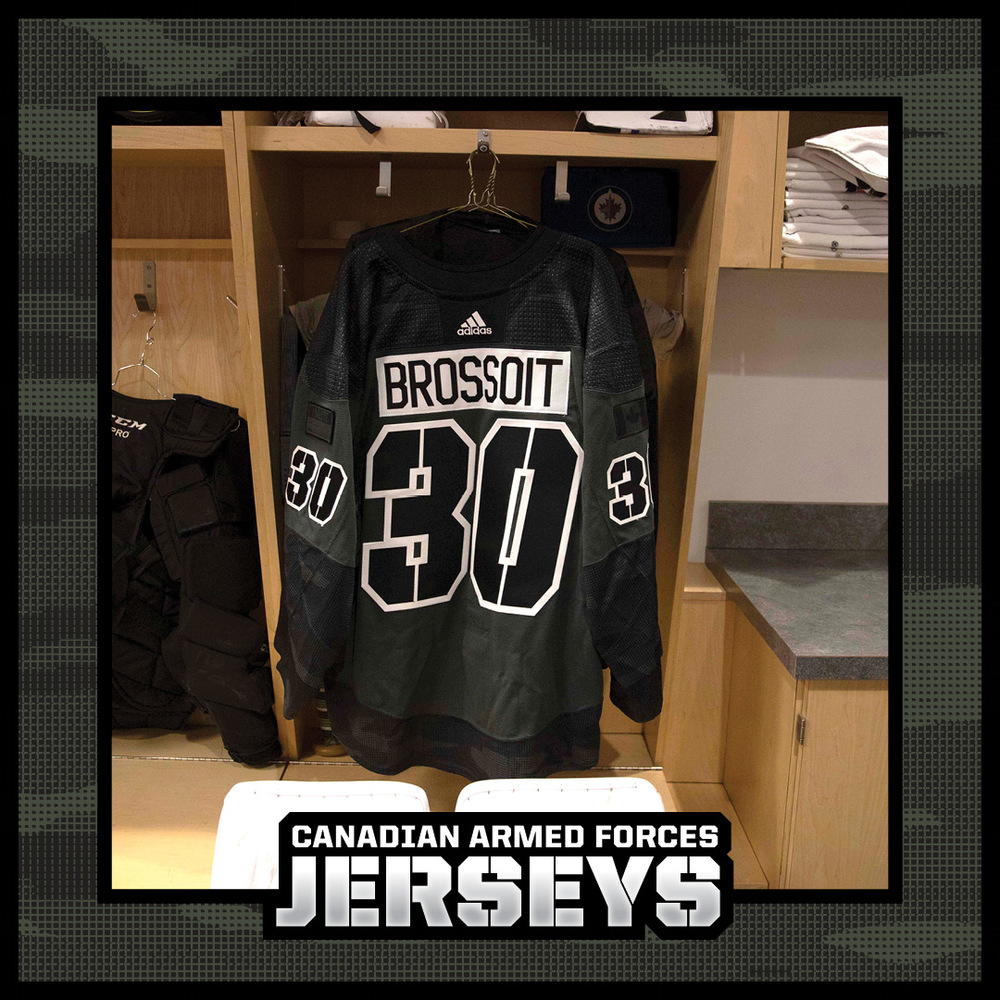 LAURENT BROSSOIT Warm Up Worn Canadian Armed Forces Jersey