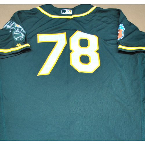 Photo of Game-Used 2016 Spring Training Jersey - Beau Taylor - Size 48 - Oakland Athletics