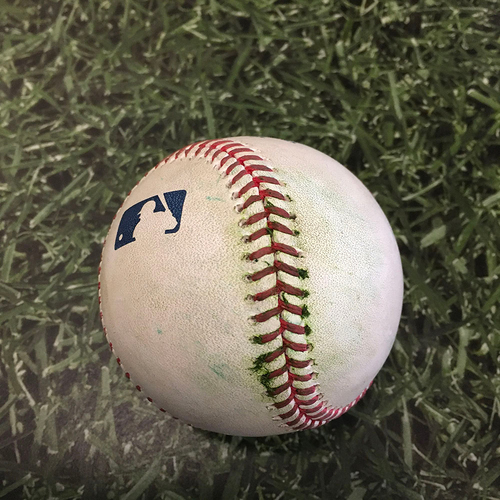 Game-Used Baseball MIN@MIL 04/03/21 - Brent Suter - Nelson Cruz: Single