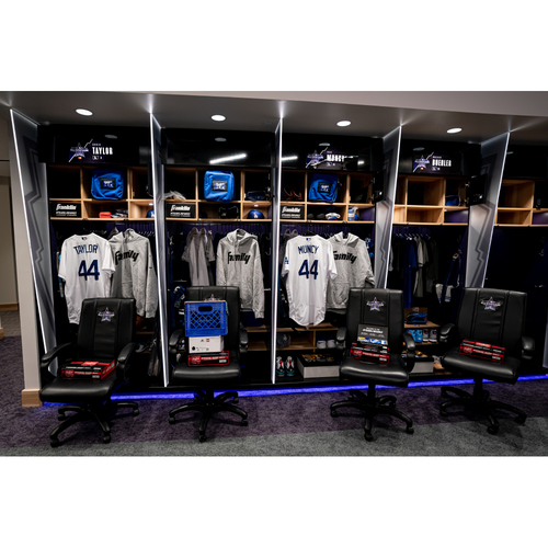 Photo of 2021 All-Star Game Clubhouse Chair Panel from Walker Buehler's Locker Chair