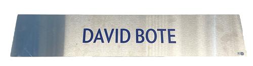 Photo of David Bote Team-Issued Locker Nameplate -- 2021 Season