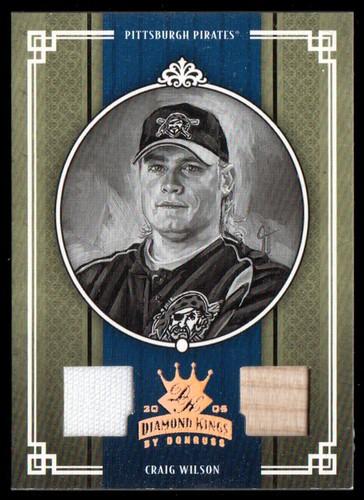 Photo of 2005 Diamond Kings Materials Bronze B/W #178 Craig Wilson Bat-Jsy/100