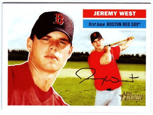 Photo of 2005 Topps Heritage #283 Jeremy West RC