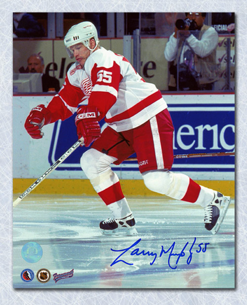 Larry Murphy Detroit Red Wings Autographed Game Action 8x10 Photo