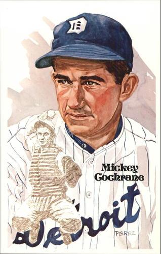 Photo of 1980-02 Perez-Steele Hall of Fame Postcards #50 Mickey Cochrane  -- HOF Class of 1947