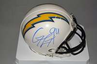 CHARGERS - COREY LIUGET SIGNED CHARGERS MINI HELMET