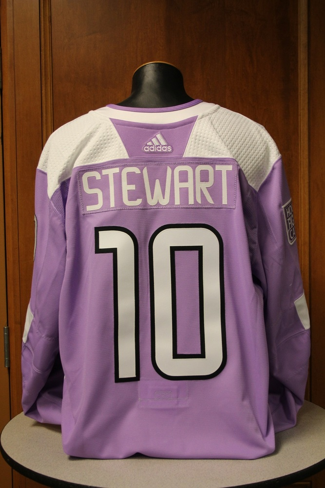 Chris Stewart Minnesota Wild 2017 Hockey Fights Cancer Night Warm-Up Jersey (Size 58)