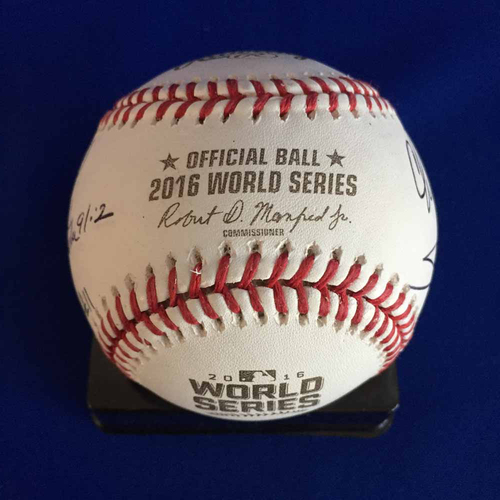 Photo of UMPS CARE AUCTION: 2016 World Series Crew Signed Baseball - Not MLB Authenticated