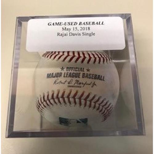 Photo of Game-Used Baseball: Rajai Davis Single