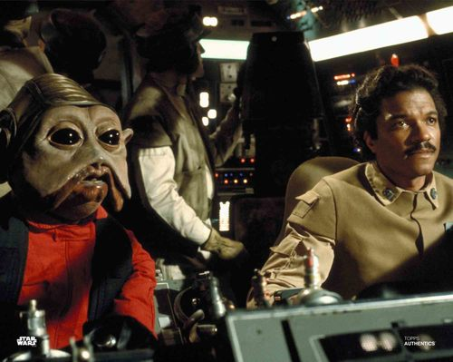 Mike Quinn and Billy Dee Williams as Nien Nunb and Lando Calrissian