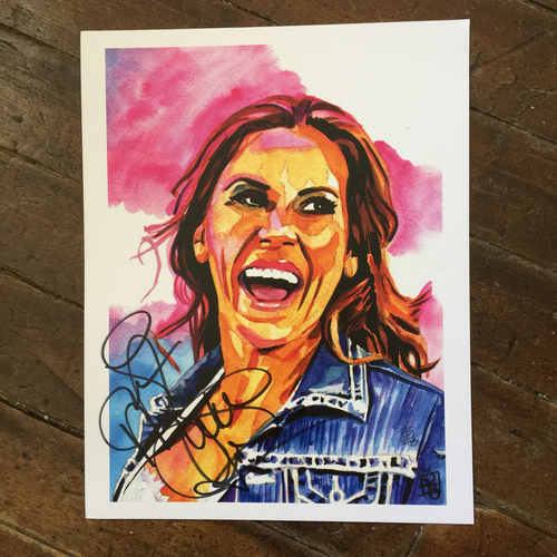 Photo of Mickie James SIGNED 11 x 14 Rob Schamberger Print