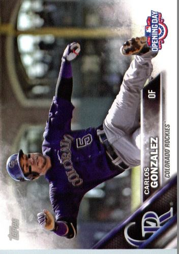 Photo of 2016 Topps Opening Day #OD152A Carlos Gonzalez